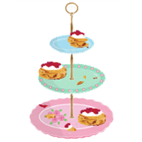 cakestand with scones on